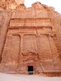 τάφος PETRA της Ιορδανίας Στοκ φωτογραφία με δικαίωμα ελεύθερης χρήσης