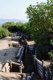 Τάφροι κοντά στον όρμο Anzac, Gallipoli, Τουρκία Στοκ εικόνες με δικαίωμα ελεύθερης χρήσης