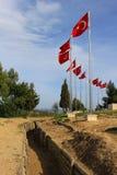 Τάφροι σε Gallipoli Τουρκία Στοκ φωτογραφία με δικαίωμα ελεύθερης χρήσης