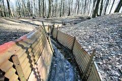 τάφρος αδύτων ξύλινο ww1 Στοκ Εικόνες