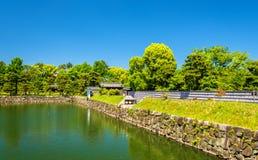 Τάφρος Nijo Castle στο Κιότο στοκ εικόνες
