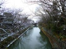 Τάφρος Omihachiman στο χιόνι στοκ εικόνες με δικαίωμα ελεύθερης χρήσης