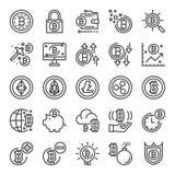 Τέλεια εικονίδια εικονοκυττάρου Cryptocurrency ελεύθερη απεικόνιση δικαιώματος