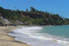Τέλεια παραλία σε Trancoso, Βραζιλία στοκ εικόνες με δικαίωμα ελεύθερης χρήσης