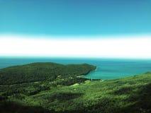 τέλεια όψη Πράσινος και μπλε Valdanos, Μαυροβούνιο Στοκ φωτογραφία με δικαίωμα ελεύθερης χρήσης