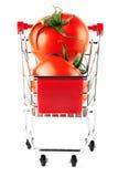 τέλειες ντομάτες αγορών &ka Στοκ φωτογραφία με δικαίωμα ελεύθερης χρήσης