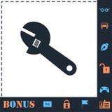 Εικονίδιο γαλλικών κλειδιών σωλήνων επίπεδο απεικόνιση αποθεμάτων