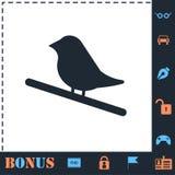 Εικονίδιο πουλιών επίπεδο ελεύθερη απεικόνιση δικαιώματος