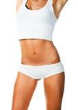 Τέλειο θηλυκό σώμα που απομονώνεται πέρα από το λευκό Στοκ Φωτογραφίες