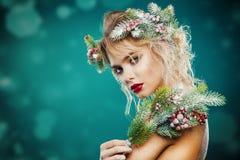 Τέλειο κορίτσι Χριστουγέννων Στοκ εικόνα με δικαίωμα ελεύθερης χρήσης