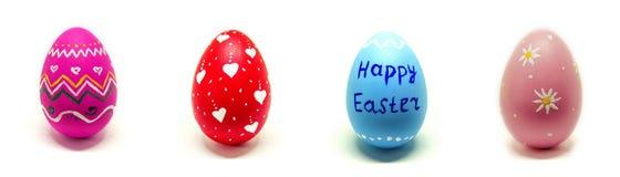 Τέλειο χέρι αυγών Πάσχας - που γίνεται απομονωμένο στο λευκό υπόβαθρο Στοκ Φωτογραφίες