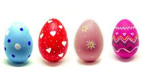 Τέλειο χέρι αυγών Πάσχας - που γίνεται απομονωμένο στο λευκό υπόβαθρο Στοκ εικόνα με δικαίωμα ελεύθερης χρήσης