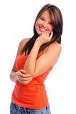 τέλειο χαμόγελο κοριτσ& Στοκ Εικόνες