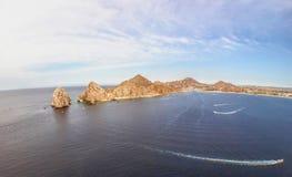 Τέλος εδάφους ` s όπου ο Ειρηνικός Ωκεανός & ο Κόλπος Καλιφόρνιας συναντιούνται Στοκ φωτογραφία με δικαίωμα ελεύθερης χρήσης