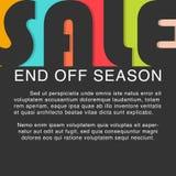 Τέλος πώλησης από την εποχή Διάνυσμα προτύπων σχεδίου πώλησης Στοκ φωτογραφία με δικαίωμα ελεύθερης χρήσης