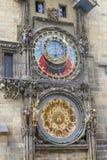 Τέλος της πομπής των αποστόλων στο αστρονομικό ρολόι στην παλαιά πόλη Πράγα, Δημοκρατία της Τσεχίας στοκ φωτογραφίες με δικαίωμα ελεύθερης χρήσης