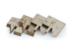 Τέμνοντα εργαλεία μεταλλείας κοπτών κομματιών τρυπανιών εργαλείων καρβιδίου που σύρουν τον κύβο Στοκ Εικόνες