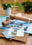 Τέμνοντα εργαλεία μπισκότων Στοκ εικόνα με δικαίωμα ελεύθερης χρήσης