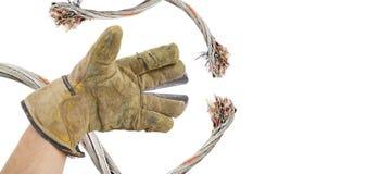 τέμνοντα καλώδια Στοκ εικόνα με δικαίωμα ελεύθερης χρήσης