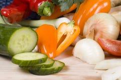 τέμνοντα λαχανικά Στοκ Εικόνα