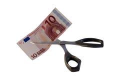 τέμνοντα χρήματα Στοκ Εικόνες