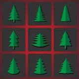 Τέμνοντα χριστουγεννιάτικα δέντρα Ελεύθερη απεικόνιση δικαιώματος