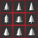 Τέμνοντα χριστουγεννιάτικα δέντρα Διανυσματική απεικόνιση