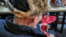 Τέμνοντες καλλιτέχνες εγγράφου Στοκ Φωτογραφία
