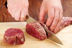 Τέμνον ακατέργαστο βόειο κρέας στοκ φωτογραφίες με δικαίωμα ελεύθερης χρήσης
