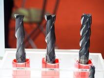Τέμνον εργαλείο για τη υψηλή ακρίβεια που επεξεργάζεται τη διαδικασία παραγωγής στη μηχανή Στοκ Εικόνες