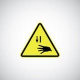 Τέμνον σημάδι κινδύνου Στοκ εικόνες με δικαίωμα ελεύθερης χρήσης