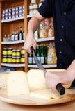 Τέμνον τυρί Στοκ εικόνες με δικαίωμα ελεύθερης χρήσης