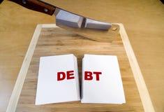 τέμνον χρέος στοκ εικόνα