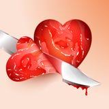 Τέμνουσα καρδιά μορφής κρέατος διανυσματική απεικόνιση