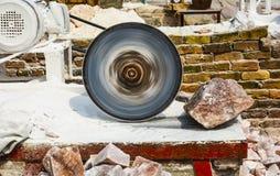 Τέμνουσα μηχανή άλατος βράχου Himalayan στοκ εικόνα