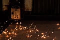 Τέμνουσα μηχανή ακτίνων λέιζερ Στοκ Εικόνες