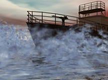 τέμνουσα ομίχλη κατευθείαν Στοκ εικόνα με δικαίωμα ελεύθερης χρήσης