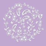 Τέμνουσες λουλούδι και πεταλούδα Στοκ Εικόνες