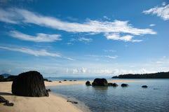 Τέντωμα άμμου στη θάλασσα Στοκ φωτογραφία με δικαίωμα ελεύθερης χρήσης
