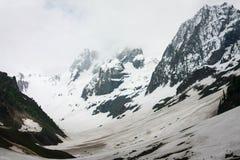 Τέντωμα παγετώνων Thajiwas για τα μίλια σε Sonamarg Στοκ Φωτογραφία