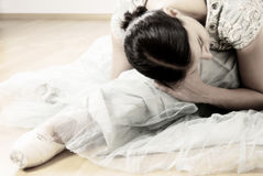 Τέντωμα Ballerina Στοκ Εικόνες