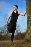 τέντωμα workout Στοκ Εικόνες