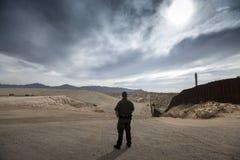 Τέξας - Ελ Πάσο - τα σύνορα στοκ εικόνα