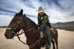 Τέξας - Ελ Πάσο - τα σύνορα Στοκ Εικόνες