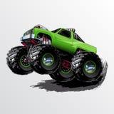 Τέρας-φορτηγό-Wheelie-ασβέστης Απεικόνιση αποθεμάτων