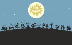 Τέρατα κάτω από το φεγγάρι Στοκ φωτογραφία με δικαίωμα ελεύθερης χρήσης