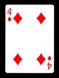 Τέσσερα από τα διαμάντια που παίζουν την κάρτα, Στοκ Φωτογραφίες