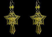 Τέσσερα αφηρημένα χρυσά αστέρια Στοκ Φωτογραφίες
