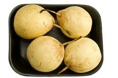 τέσσερα αχλάδια που τίθε& Στοκ εικόνα με δικαίωμα ελεύθερης χρήσης