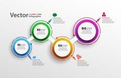Τέσσερα βήματα αφαιρούν το πρότυπο επιλογών αριθμού infographics Στοκ εικόνες με δικαίωμα ελεύθερης χρήσης